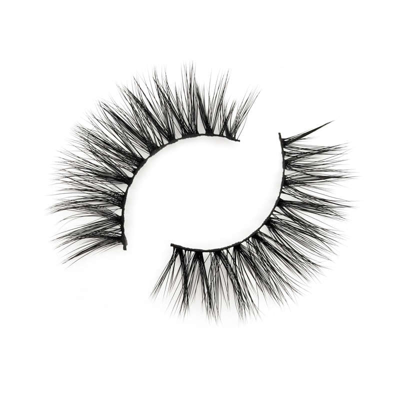Inquiry for Handmade Dramatic Thick Crossed Cluster False Eyelashes Black Nature 3d silk lashes suppliers XJ35
